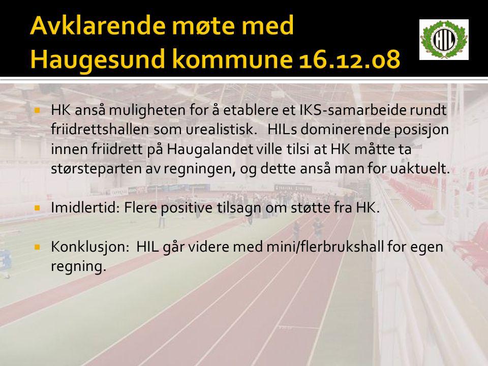 Avklarende møte med Haugesund kommune 16.12.08