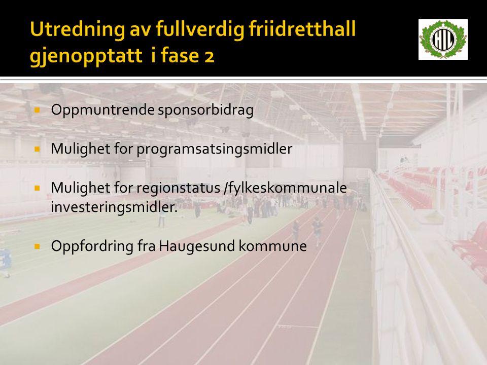 Utredning av fullverdig friidretthall gjenopptatt i fase 2