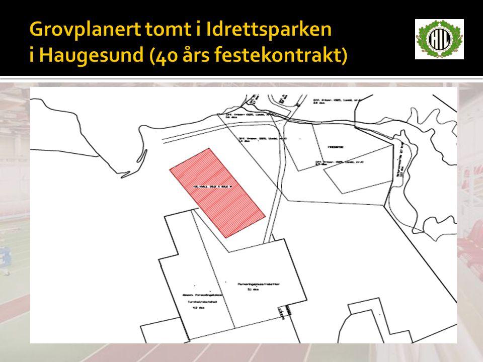 Grovplanert tomt i Idrettsparken i Haugesund (40 års festekontrakt)
