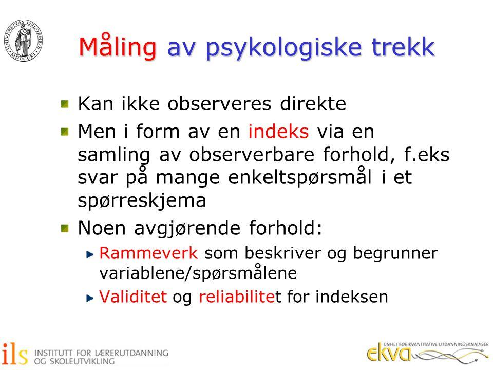 Måling av psykologiske trekk