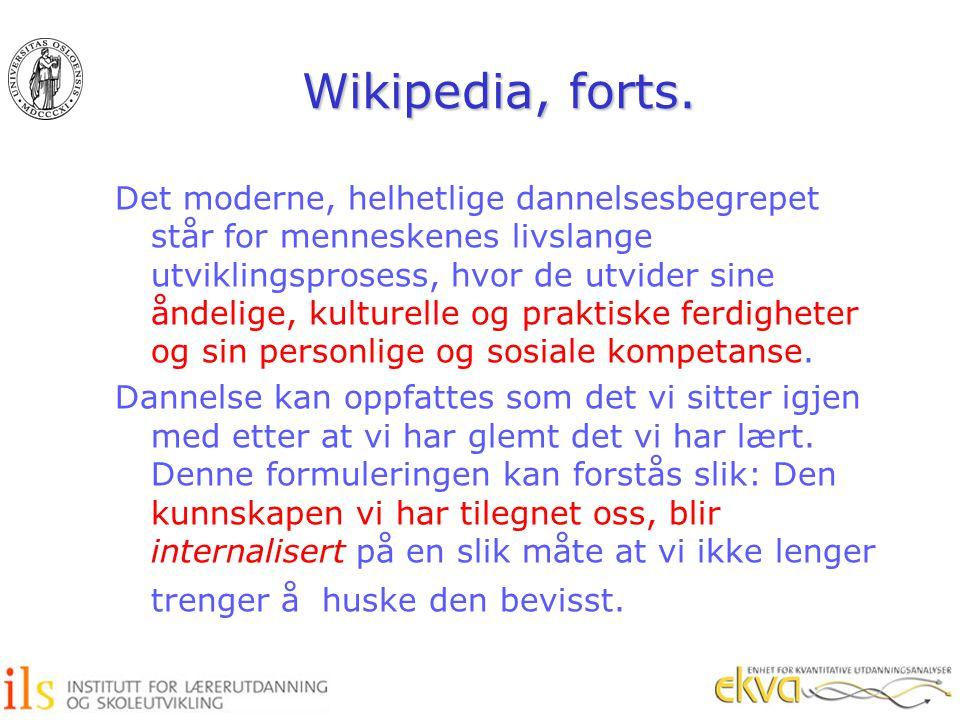 Wikipedia, forts.