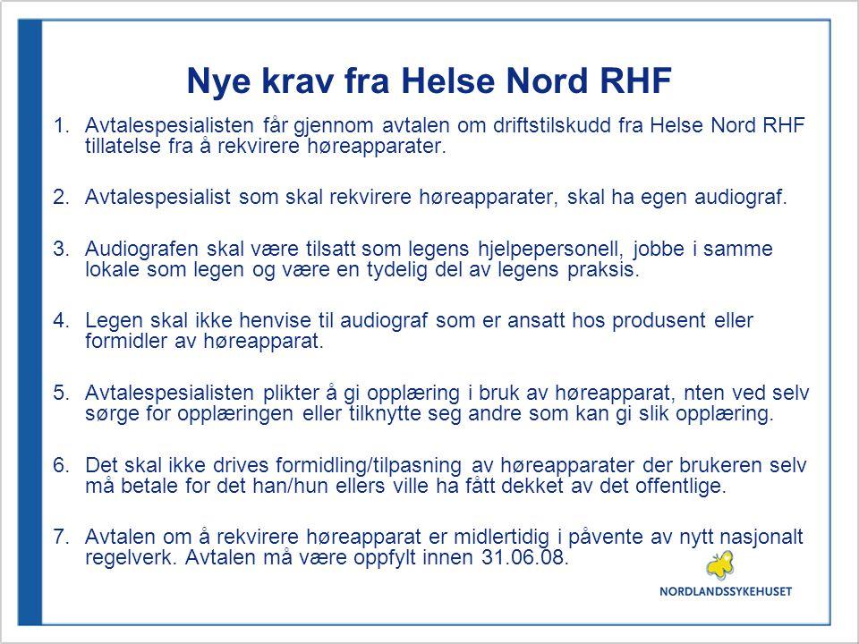 Nye krav fra Helse Nord RHF