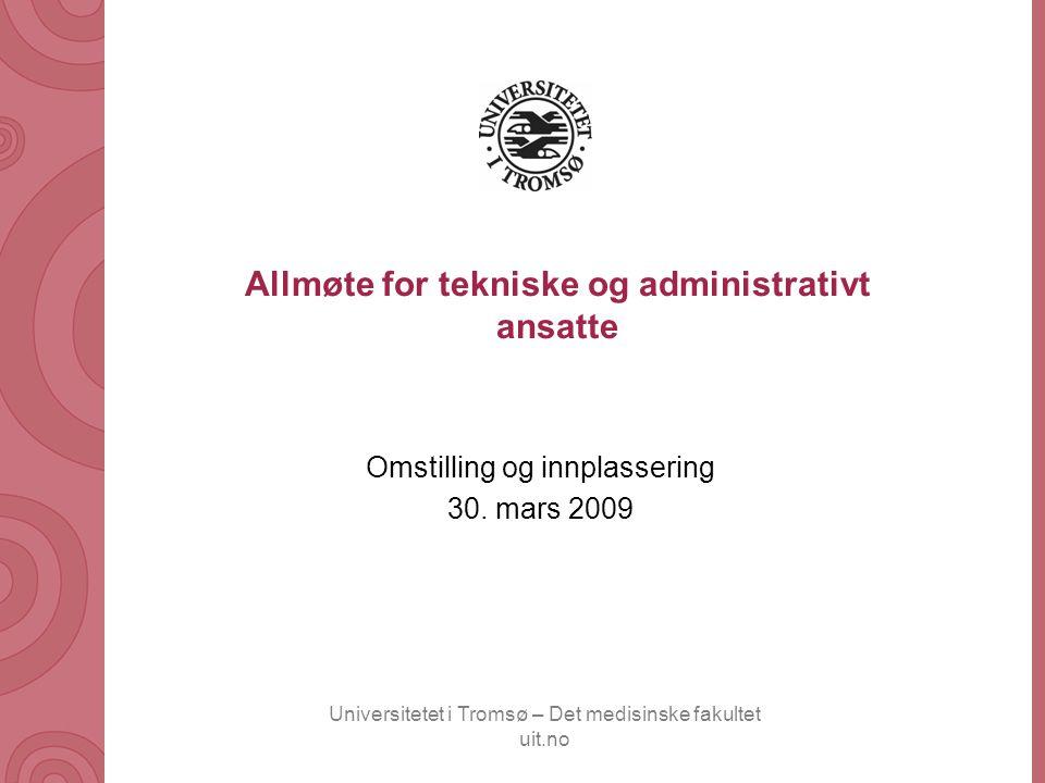 Allmøte for tekniske og administrativt ansatte