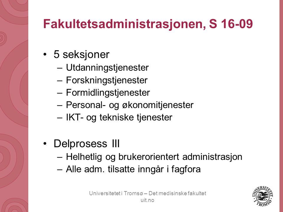 Fakultetsadministrasjonen, S 16-09