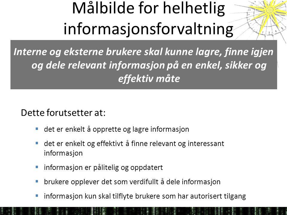 Målbilde for helhetlig informasjonsforvaltning