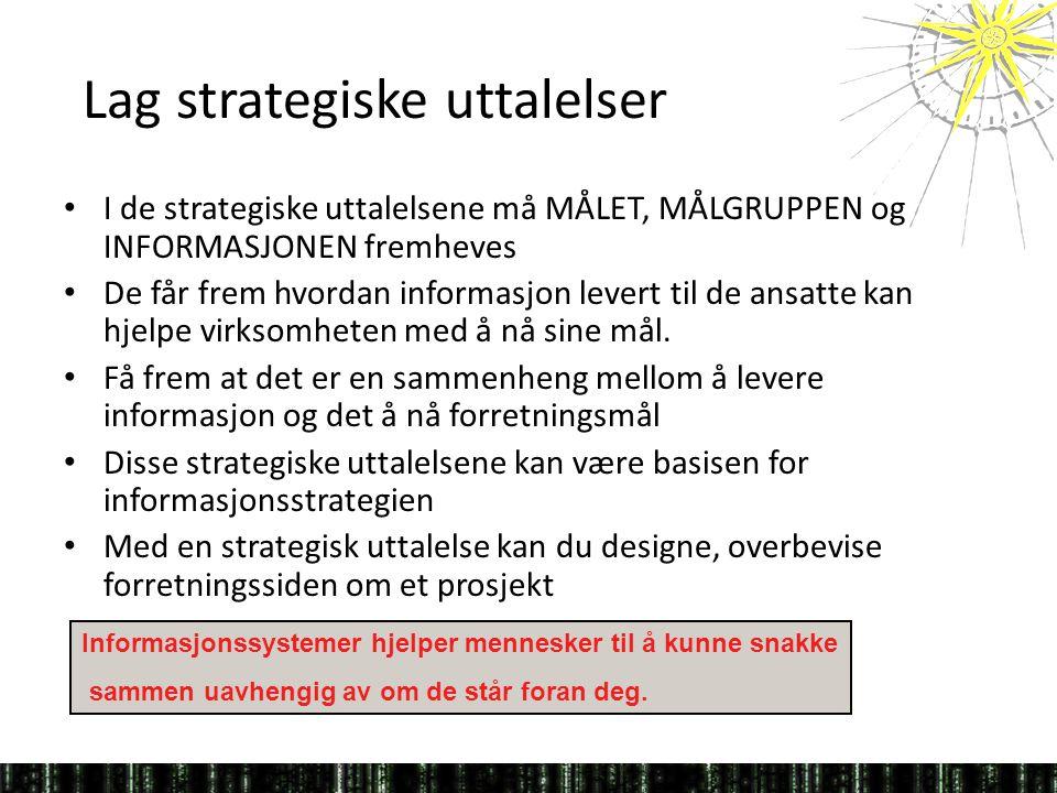 Lag strategiske uttalelser