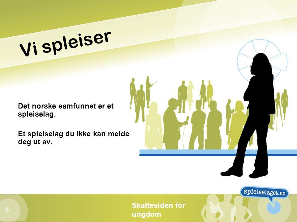 Vi spleiser Det norske samfunnet er et spleiselag.
