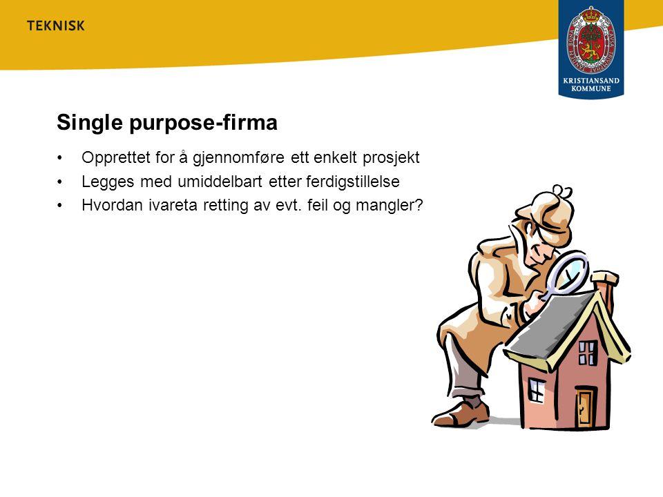 Single purpose-firma Opprettet for å gjennomføre ett enkelt prosjekt