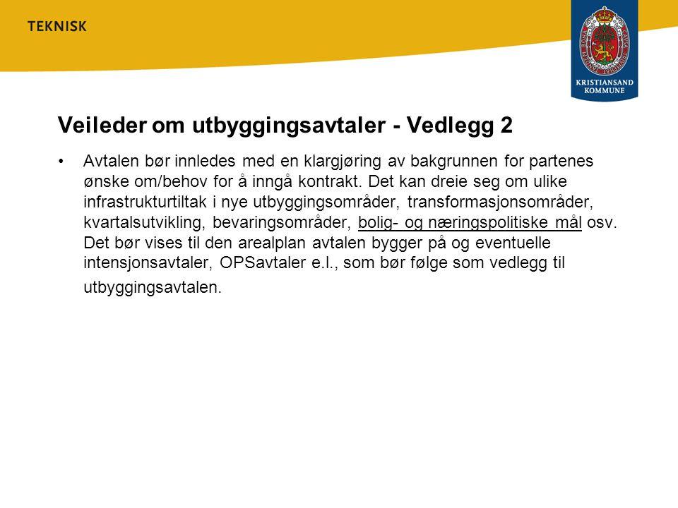 Veileder om utbyggingsavtaler - Vedlegg 2