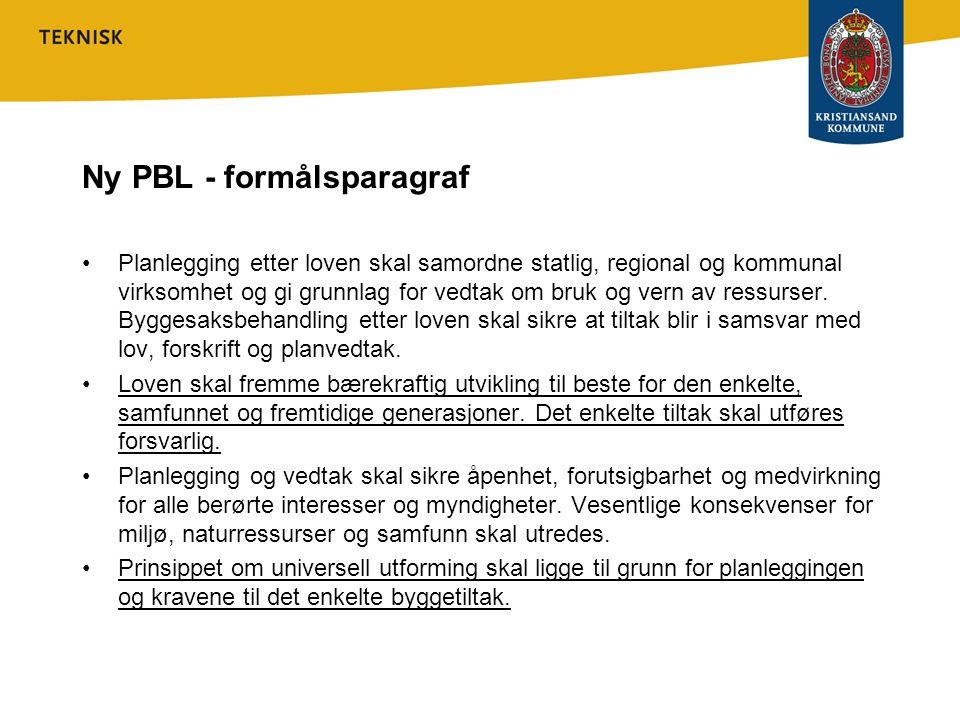 Ny PBL - formålsparagraf