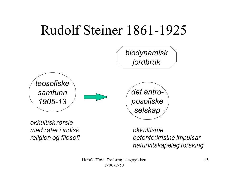 Harald Høie Reformpedagogikken 1900-1950