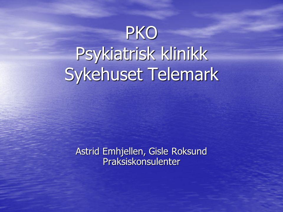 PKO Psykiatrisk klinikk Sykehuset Telemark