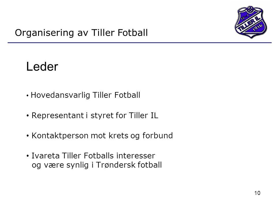 Leder Organisering av Tiller Fotball