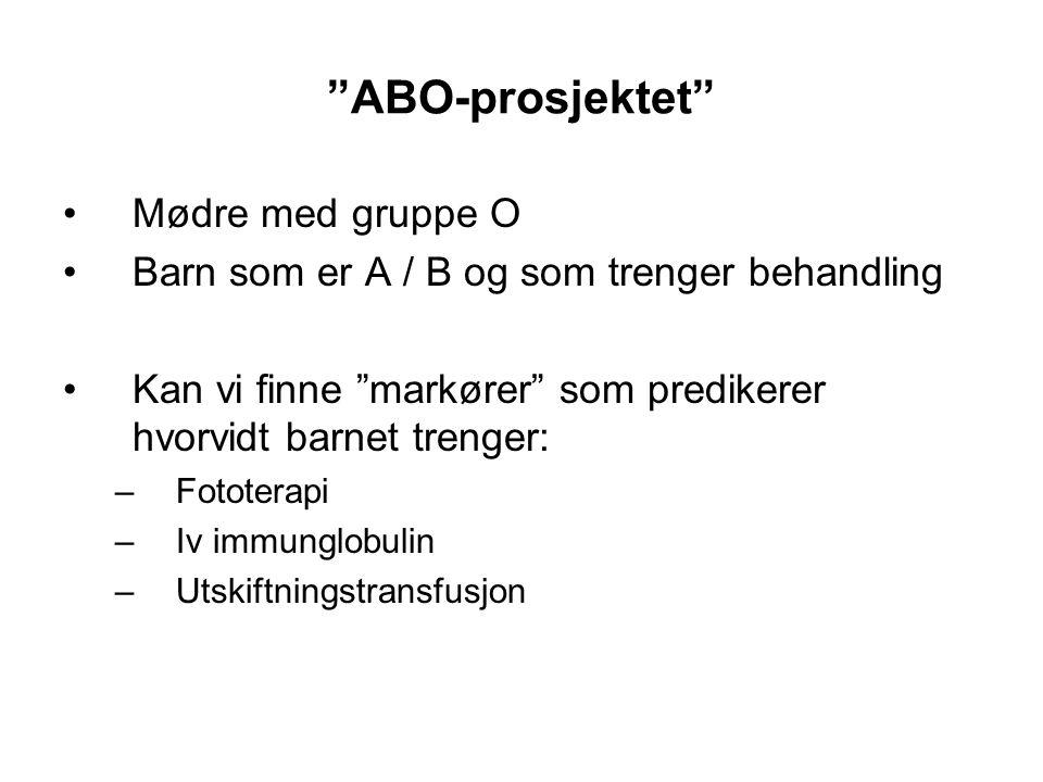 ABO-prosjektet Mødre med gruppe O