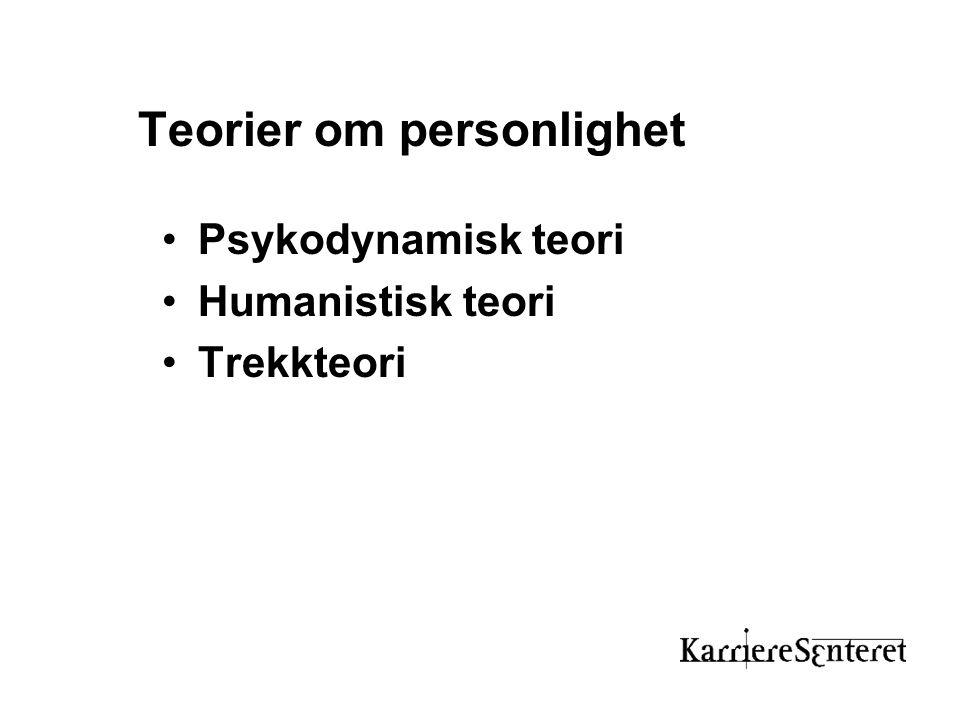 Teorier om personlighet