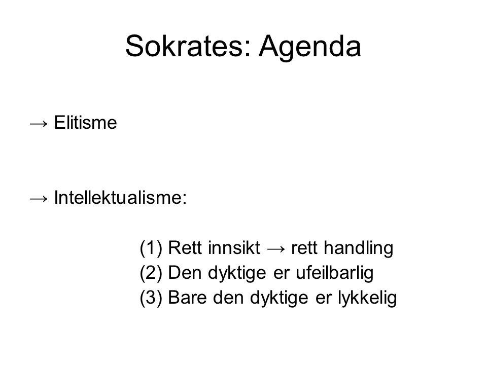 Sokrates: Agenda → Elitisme → Intellektualisme: