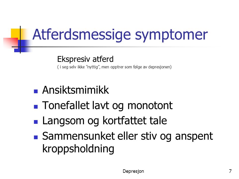 Atferdsmessige symptomer