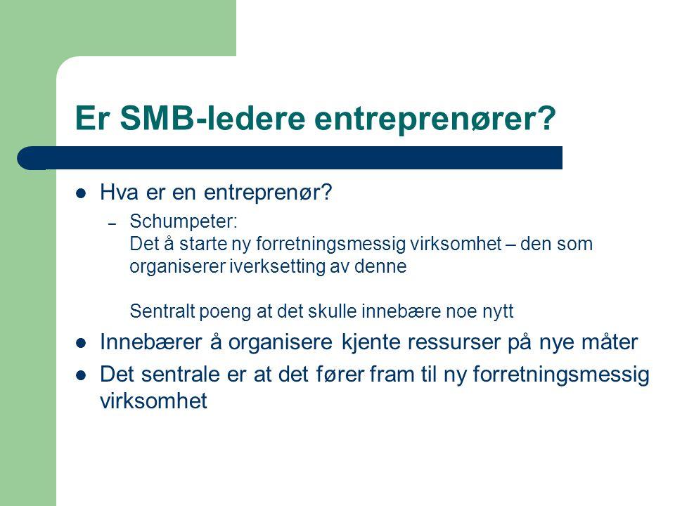 Er SMB-ledere entreprenører