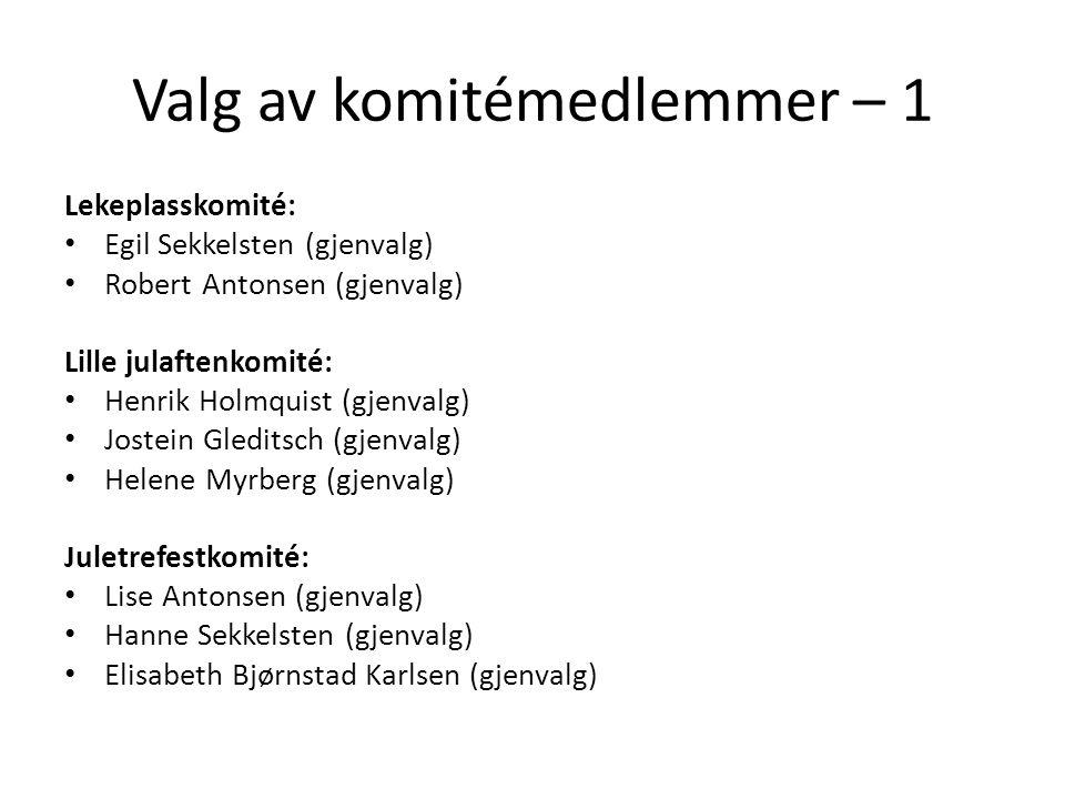 Valg av komitémedlemmer – 1