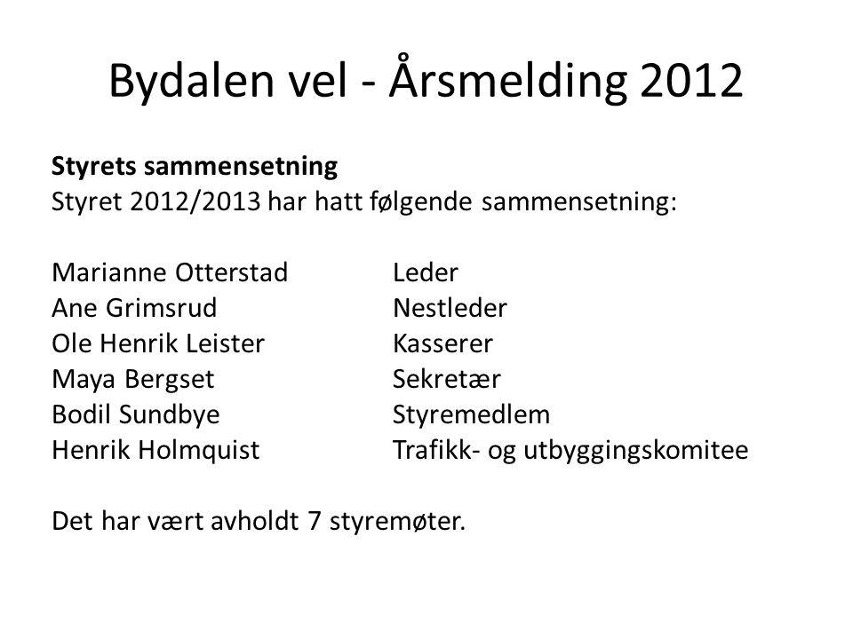 Bydalen vel - Årsmelding 2012