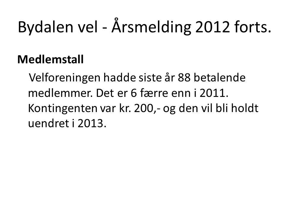 Bydalen vel - Årsmelding 2012 forts.