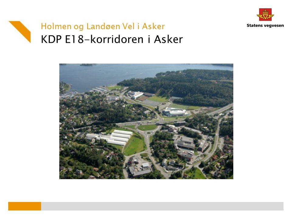 KDP E18-korridoren i Asker