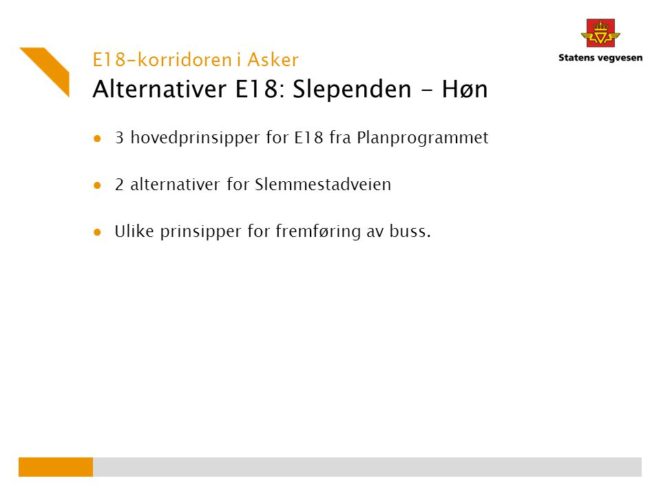Alternativer E18: Slependen - Høn