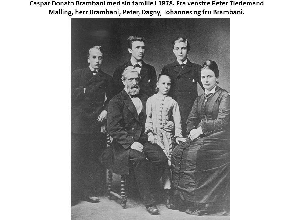 Caspar Donato Brambani med sin familie i 1878