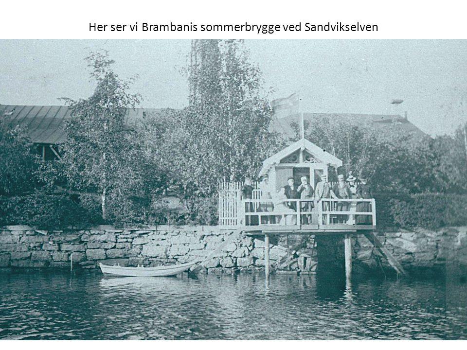 Her ser vi Brambanis sommerbrygge ved Sandvikselven