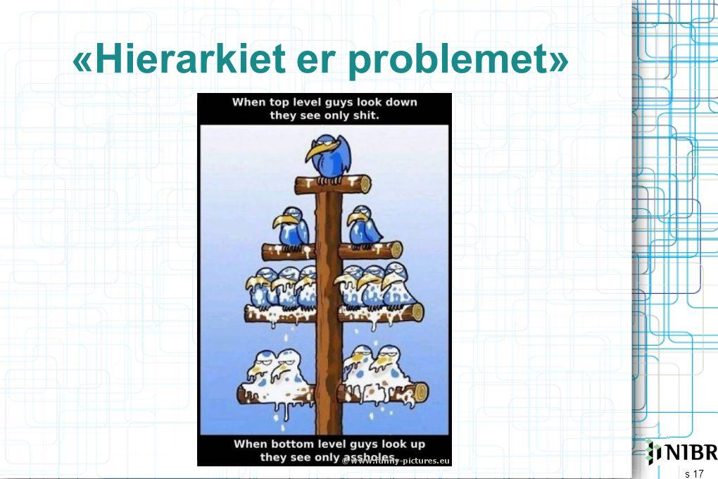 «Hierarkiet er problemet»