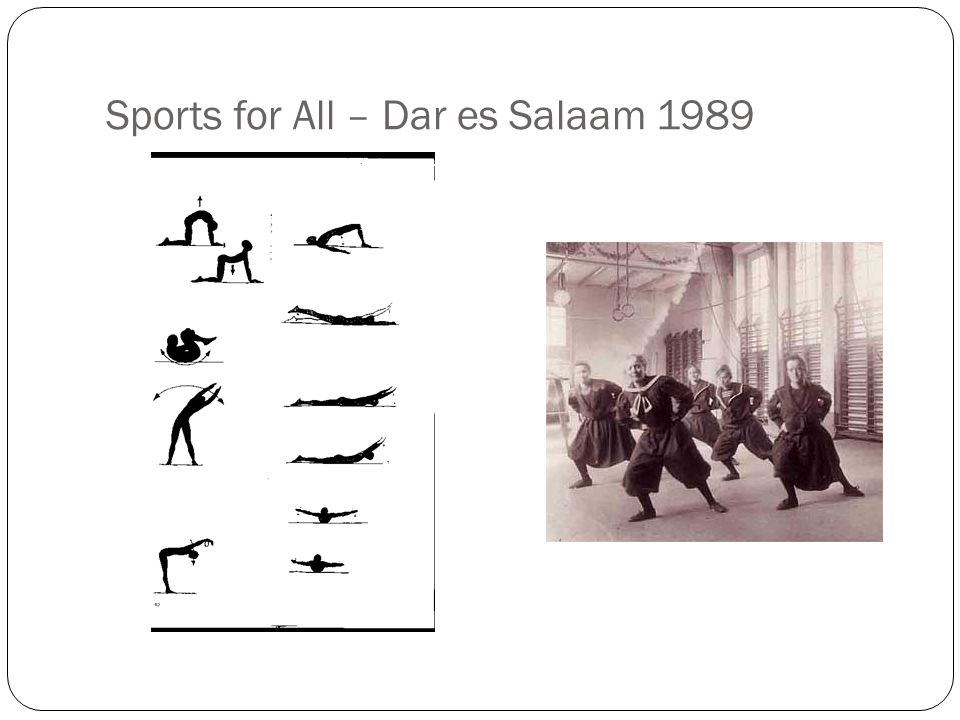 Sports for All – Dar es Salaam 1989