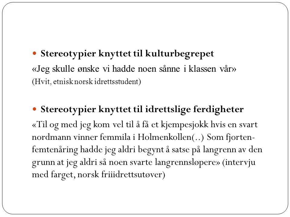 Stereotypier knyttet til kulturbegrepet