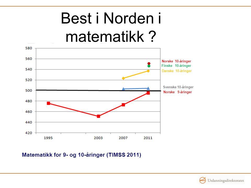 Best i Norden i matematikk