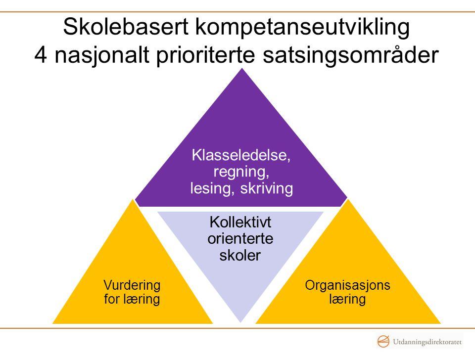 Skolebasert kompetanseutvikling 4 nasjonalt prioriterte satsingsområder
