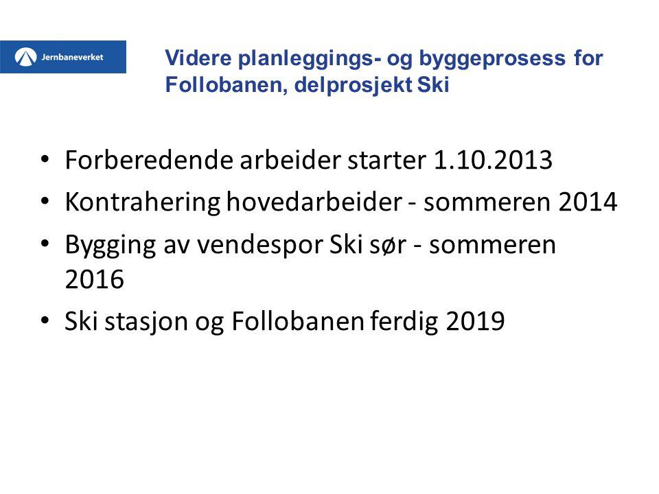 Forberedende arbeider starter 1.10.2013