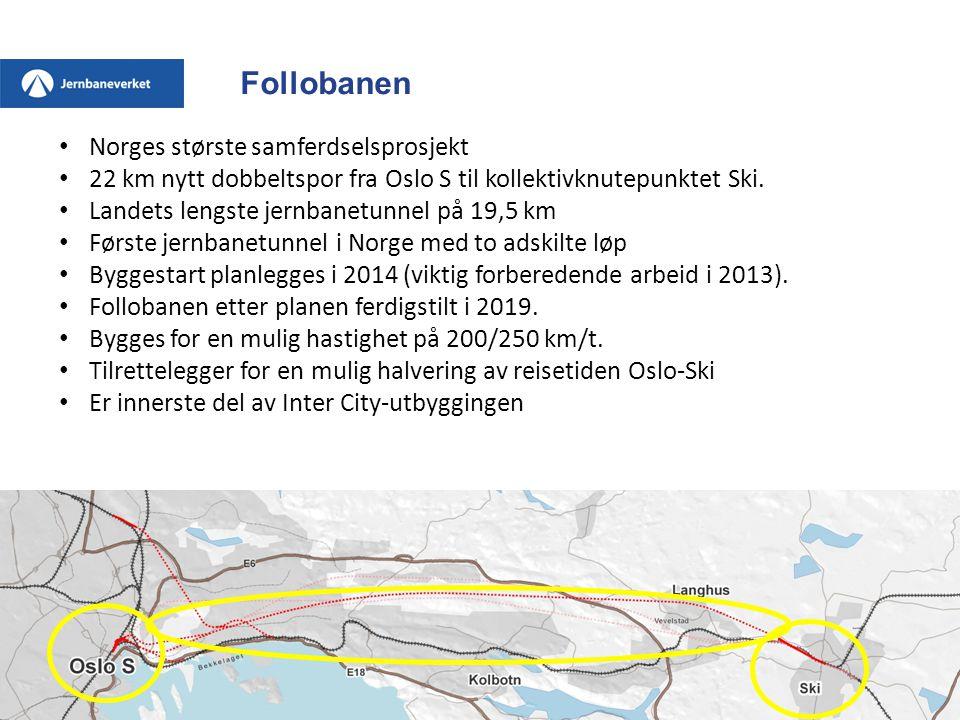 Follobanen Norges største samferdselsprosjekt
