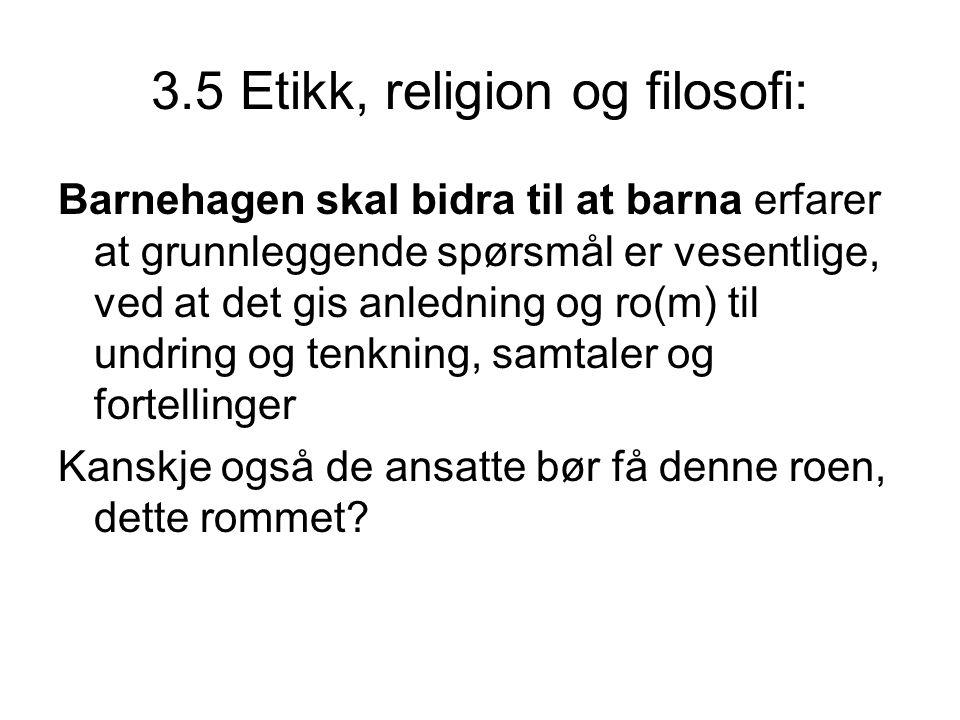 3.5 Etikk, religion og filosofi:
