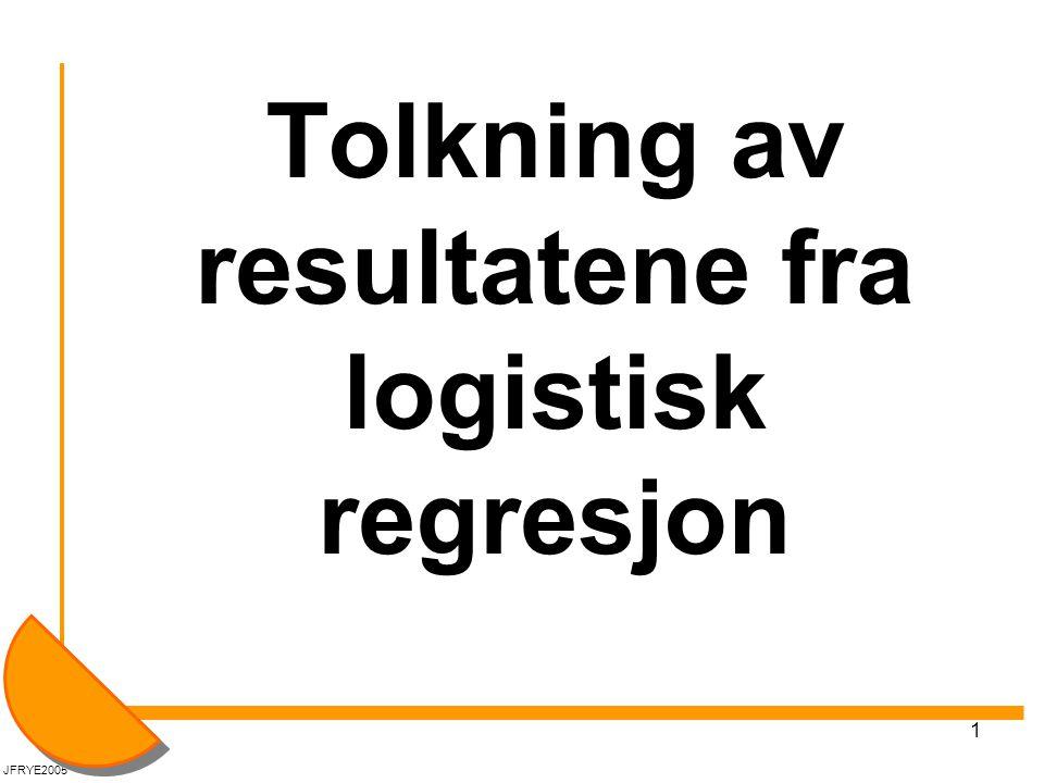 Tolkning av resultatene fra logistisk regresjon