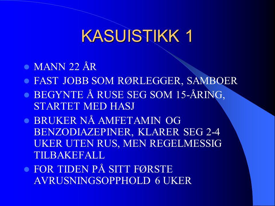 KASUISTIKK 1 MANN 22 ÅR FAST JOBB SOM RØRLEGGER, SAMBOER