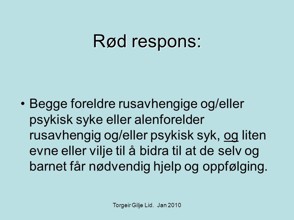 Rød respons: