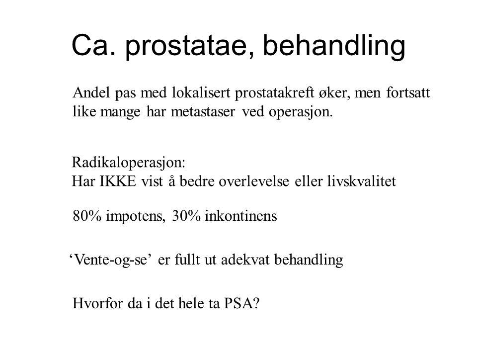 Ca. prostatae, behandling