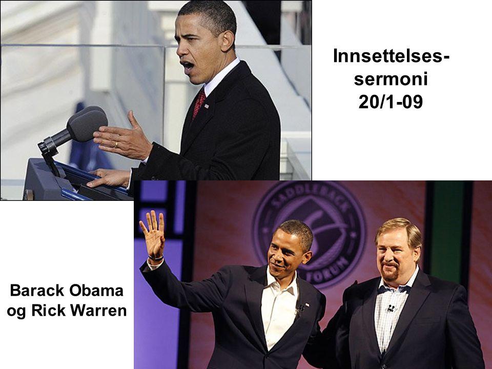 Innsettelses-sermoni 20/1-09 Barack Obama og Rick Warren