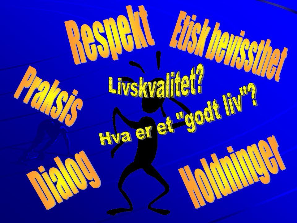 Respekt Etisk bevissthet Livskvalitet Praksis Hva er et godt liv Holdninger Dialog