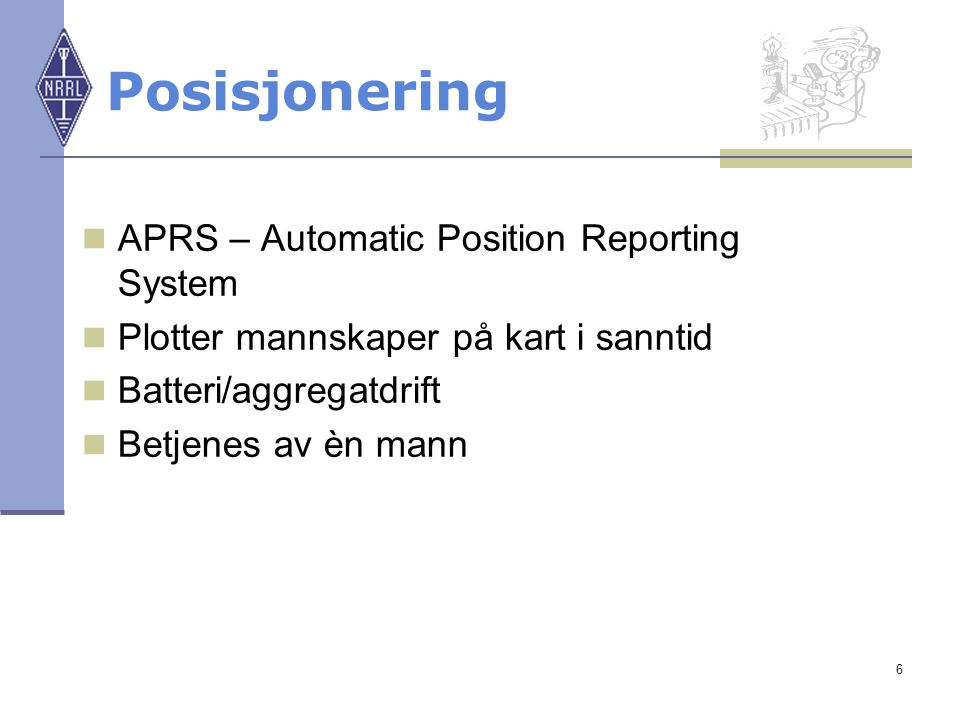 Posisjonering APRS – Automatic Position Reporting System