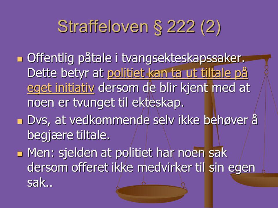 Straffeloven § 222 (2)