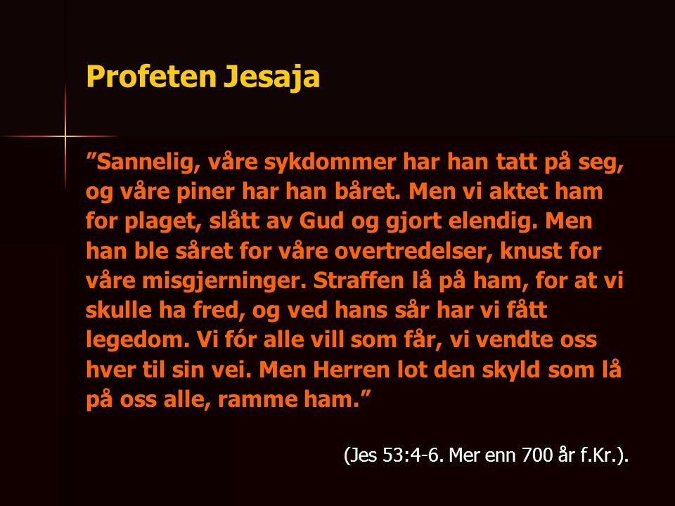 Profeten Jesaja Sannelig, våre sykdommer har han tatt på seg,