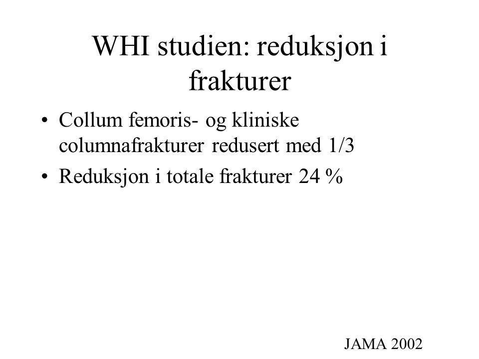 WHI studien: reduksjon i frakturer