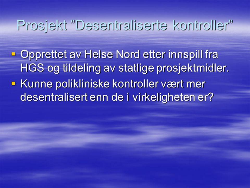 Prosjekt Desentraliserte kontroller