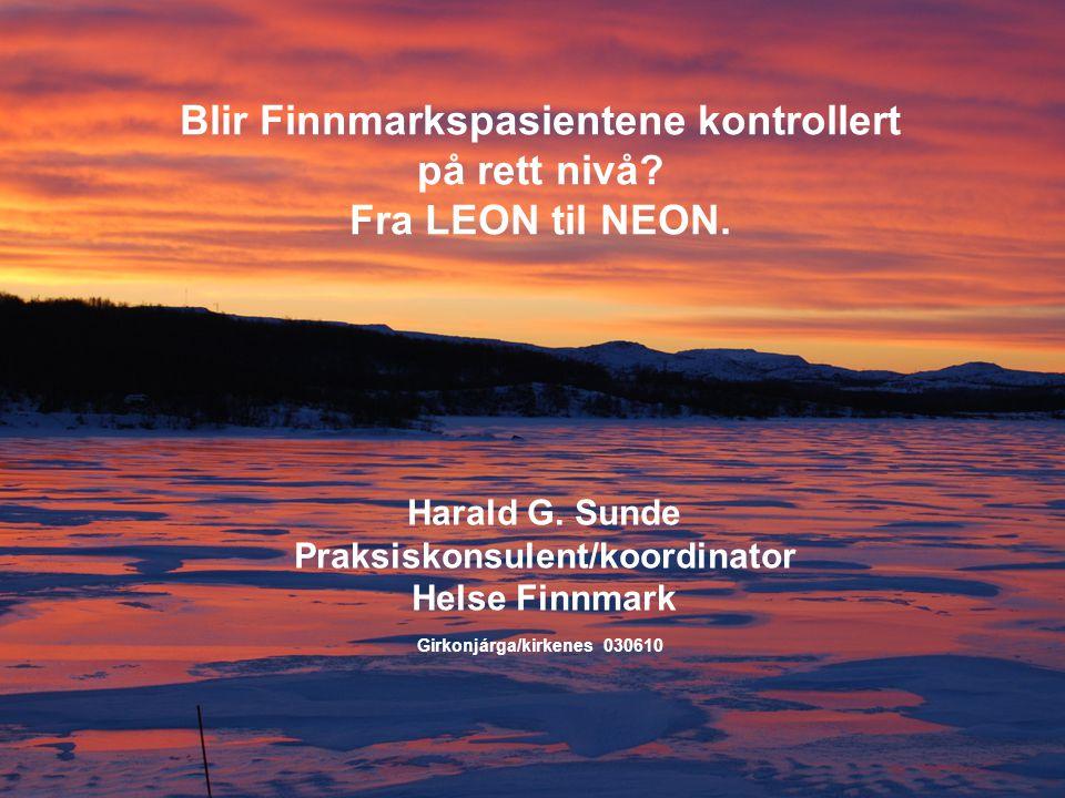 Blir Finnmarkspasientene kontrollert på rett nivå