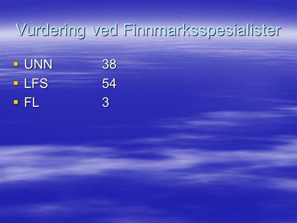 Vurdering ved Finnmarksspesialister
